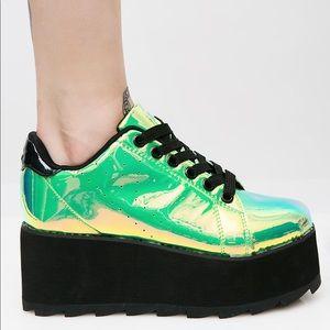 👽Spacebound Lala Platform Sneakers YRUxDollsKill